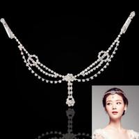 alın için mücevherat toptan satış-FU Sıcak Satış Moda Kadınlar Pençe Zinciri Çinko Alaşım Metal Kafa Zinciri Forehead Parti Kafa Takı