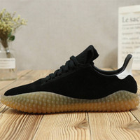 Wholesale raw rubber - Brand New Kamanda Black Suede Black Yellow Raw rubber Casual Running shoes for Good quality Men's Athletic shoes Jogging Size 40-45