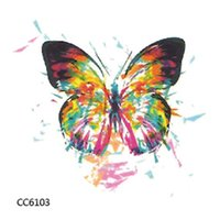Wholesale temporary tattoo sticker sex - Colourful Butterfly Mini Body Art Waterproof Temporary Tattoos Sex Flash Tattoo Sticker CC6103