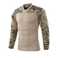 camouflage anzüge kampf großhandel-Militärische Tarnung US Army Unifrom Combat Shirt mit Elbow Airsoft Taktischer Anzug Paintball Militar Gear Hunter Bekleidung