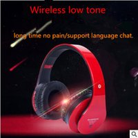Wholesale sd tf card headphones - Wireless Headphones Bluetooth Gaming Music Support Tf SD Card With Mic can retractable Computer Gaming Headset wholesale