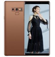 gsm sim desbloqueado venda por atacado-ERQIYU Goophone Note9 telefones celulares mostrados 4g lte gsm 13.0mp MTK6592 Octa Núcleo 2560 * 1440 Android 9.0 desbloqueado 6.4 polegadas GPS Smartphones