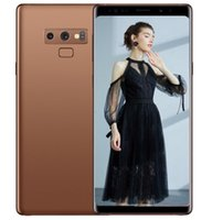 teléfonos wcdma gsm dual sim al por mayor-Se muestran los teléfonos celulares ERQIYU Goophone Note9 4g lte gsm 13.0mp MTK6592 Octa Core 2560 * 1440 Android 9.0 desbloqueado 6.4inch GPS Smartphones