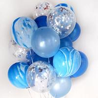 balon yüksek toptan satış-Yüksek Kaliteli Balon Brithday Parti Düğün Dekorasyon Renkli Kağıt Konfeti Balon Noel Cadılar Bayramı Navidad