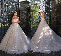 Wholesale romantic corset wedding dresses for sale - Romantic Flora Lace Appliqued Wedding Dresses Sexy Backless Sweetheart A Line Vestidos de novia Bridal Gowns Formal with Corset Back
