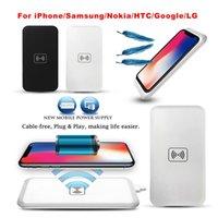 cargador qi transmisor inalámbrico al por mayor-MC-02A Qi estándar cargador de cargador inalámbrico universal Banco de potencia transmisor portátil Accessary para Samsung Galaxy S6 Edge S7 iPhone 8 Nota 8