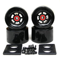 nuevas ruedas grandes al por mayor-Nuevo tablero largo City Run 87 * 52 mm Wheels 6 mm Riserpad 35 mm Bolts ABEC-9 Bearing Big Long Wheels 82A Skateboard 83 * 52 mm