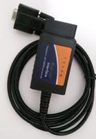 Wholesale port rs 232 - ELM 327 COM Port RS232 Plastic OBDII Scanner Automotive Diagnostic Tools ELM327 RS 232 OBD2 Scan Tool