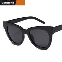 schwarze katze auge sonnenbrille europa großhandel-2018 Europa und Amerika Sonnenbrille Männer Retro Katzenaugen-Sonnenbrille Mode Marke Design Big Square Schwarz Schildkröte UV400
