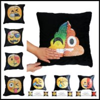 Wholesale kitchen accessories - 40 cm Styles Emoji Changing Face Cotton Linen Bedroom Seat Decorative Pillow Home Decor Kitchen Accessories Party Decoration