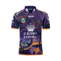 Wholesale australian shirt online - NRL Australian Rules football Melbourne Commemorative Football Jersey high quality Jersey Rugby Shirts Size S XXXL