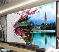 ko groihandel-Factory dierct sale Benutzerdefiniert jede Wand der chinesischen Wandgemälde der Wand-Wand 3d der Größe 3D