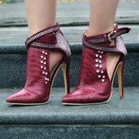 sandálias de salto alto venda por atacado-2018 Factory Outlet ultra-personalizado moda feminina sapatos sandálias de broca quente com apontado sapatos de salto alto moda exclusiva das mulheres