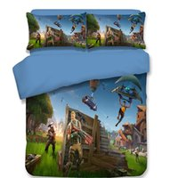Wholesale Duvet Covers - 3D Printed Fortnite Bedding Sets For Home Bedroom Quilt Covers With Double Pillow Case Duvet Cover Suit Fashion 215bt BB