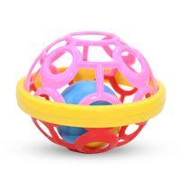 ingrosso puzzle di campana-neonato morbido palla di gomma sonaglio materno e baby set giocattolo infantile campana baby sonaglio palla bambino puzzle campanello educazione precoce