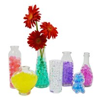 Wholesale table decorations red crystals - 300 Bags lot stunning new in pack magic soil gel crystals ball water beads wedding party table vase deco