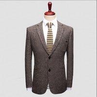 yeni tasarım erkek blazer toptan satış-2018 Yeni Varış Iş Erkek Blazer Casual Blazers Erkekler kafes Resmi ceket Popüler Tasarım Elbise Suit Ceketler Ince kafes