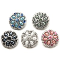Hot Women Crystal Jewelry Necklace Pendant Fit 18mm Noosa Snap Button N322