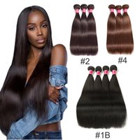 Wholesale brazilian human hair extensions bundle for sale - 8A Mink Brazilian Straight Hair Bundles B Brazilian Virgin Hair Straight Peruvian Malaysian Indian Human Hair Weave Extensions