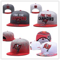 Wholesale red cap fish - Football Adjustable Snapbacks Hip hop Flat hat Sports Team Tampa Bay Quality Caps For Men And Women The High quality embroidery