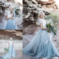 vestido de novia de playa corto de marfil al por mayor-