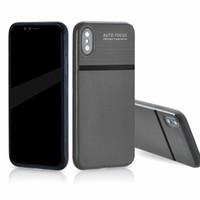 iphone 5s elma deri çanta toptan satış-IPhone X için Yumuşak Durumda Ultra-ince Kayma Önleyici Deri Doku Telefon Kılıfları iPhone 8 7 6 6 S Artı 5 5 S Samsung Not 8 S7 Kenar S8 Artı