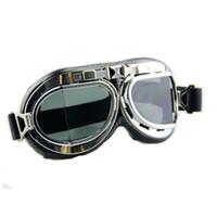 ingrosso occhiali caldi caldi-Hot Unisex Cool New Men Women Welding Goggles Black Occhiali stile WWII Cosplay Vintage Vitoriano Glasses Antique Spikes