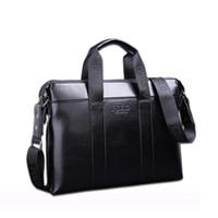 Wholesale briefcase for sale - 2018 Famous Brand Designer Briefcase Simple Mens Leather Briefcase Solid Large Business Man Bag Laptop Bag Messenger Bag for Men