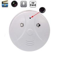 Wholesale remote controlled smoke detector online - Smoke detector camera Motion Detector Separate voice recording Remote Control Camera Camcorder Mini DV DVR PQ130