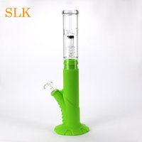 Wholesale oil burner concentrate for sale - Group buy Glass oil burner pipe water bongs collapsible new model dab straw concentrate silicone dab bong arms