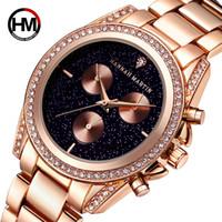 женские часы для женщин оптовых-Fashion  Rose Gold Women Watches Japanese Quartz Movement  Waterproof Wrist-watches Diamond Ladies Watch Montre Femme
