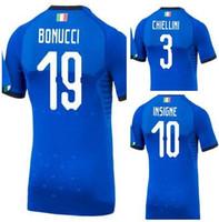Wholesale italy soccer jerseys - 2018 World Cup Italy Home Customized 19 Bonucci 10 Insigne 3 Chiellini Thai Quality Soccer Jersey,14 Jorginho 22 El Shaarawy 21 Zappacosta
