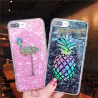 verchromt iphone großhandel-Laser ananas abdeckung hart plattiert marmor flamingo kaktus chrom shell korn fall für iphone xs max xr x 6 6s 7 8 plus