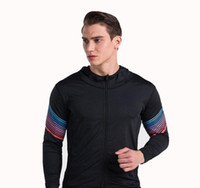Wholesale Tights Coat - The new streamer fitness fitness tight coat gym training jacket running mountaineering hoodie