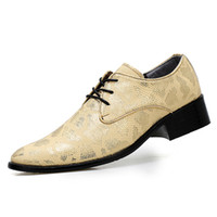 ingrosso scarpe da snakeskin vestito-New Listing Brand Snakeskin Leather Shoes Men Luxury Mens Dress Shoes Stampato Business Oxfords Formal Shoes Uomo Taglia 38-44