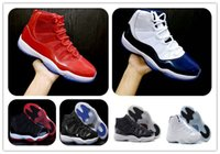 Wholesale Cheap Black Athletic Shoes - 11 Gym Red Chicago Midnight Navy WIN LIKE 82 Bred Basketball Shoes 11s Space Jam Mens Sports Shoes Womens Trainers Cheap Athletics Sneakers