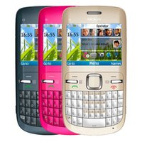 Wholesale gsm phone accessories - Refurbished Original Nokia C3-00 Unlocked Phone 2.4 inch Screen 2MP Camera Bluetooth FM JAVA 2G GSM Cheap Phone Free Post 1pcs