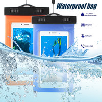 Wholesale chinese float - Floating Waterproof Pouch Training Case For iPhone Dry Bag Outdoor Water Activities For iPhone 8 Samsung S9 Huawei Cellphones Up to 5.8inch