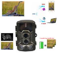 Wholesale Hunting Wildlife Camera - Night Vision Trail Camera Game Hunting Camera 12MP 1080P HD No Glow Infrared Outdoor Surveillance Wildlife Cameras Trap Photo Traps