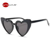 216095c051588 UVLAIK Heart Sunglasses Women brand designer Cat Eye Sun Glasses Retro Love  Heart Shaped Glasses Ladies Shopping Sunglass UV400