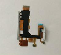 sony için anakart toptan satış-Z2 Yedek Anakart Flex Kablo Ses Güç Düğmesi Sony Xperia Z2 D6503 D6502 D6543 için Mikrofon Flex