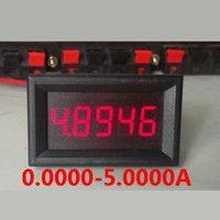 amperímetro de derivación al por mayor-Freeshipping 5 dígitos DC 0-5.0000A 5A Amperímetro digital LED rojo Tester Amperímetro de alta precisión AMP Meter Monitor Shunt actual