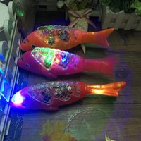 Wholesale wood fishing toys for sale - Group buy Lunar New Year s Spring Festival Lantern projection electric fish swaying music toys free fish stalls hot selling