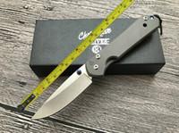 tam titanyum bıçak toptan satış-ÜCRETSIZ KARGO 8.5 '' Chris Reeve Yeni CNC D2 Blade Sebenza 21 Stil Tam TC4 TITANYUM Kolu Katlanır bıçak DF23