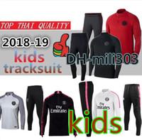 Wholesale children's suit jacket online - 18 kids Paris Jordam tracksuit psg child jackets Survetement MBAPPE PSG FR boy maillot de foot football jacket training suit