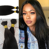 Wholesale silky braiding hair for sale - Silky Straight Hair Bulk Bundles Brazilian Mongolian Cambodian Human Braiding Hair Bulk Natural Color Fast Shipping FDSHINE