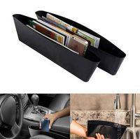 Wholesale car side seat organizer - Car Seat Gap Catch Catcher Storage Organizer Box Caddy Pocket Gap Slit Pocket Storage Organizer Holder Box EEA210