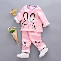 197fdb03b8adc Kids Girls Pajamas Set Cotton Children Pajama Suit Warm Underwear Thermal  Clothes Thickened Baby pyjamas winter Boy clothing