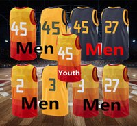 Wholesale cheap jerseys free shipping - Men's 2017-18 City Edition jerseys new season #45 #2 #3 jersey High quality rip Basketball jerseys Cheap Stitched free shipping