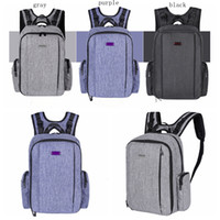 Wholesale pregnant women diapers resale online - Multi Function Mommy backpack waterproof bag with multi pocket diaper bag pregnant women supplies Travel Nappy Baby Diaper Bags LJJG22